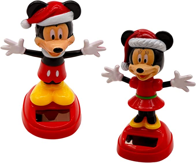 7186 Solar Dancing Ornament Red Hat Snowman Decor Powered Solar Toy