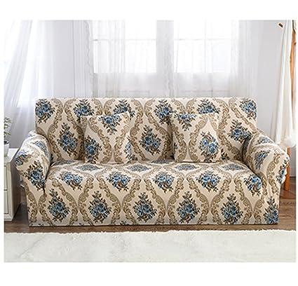 HM&DX Elástico Funda para sofá Slipcover,1-pieza Poliester Flores ...