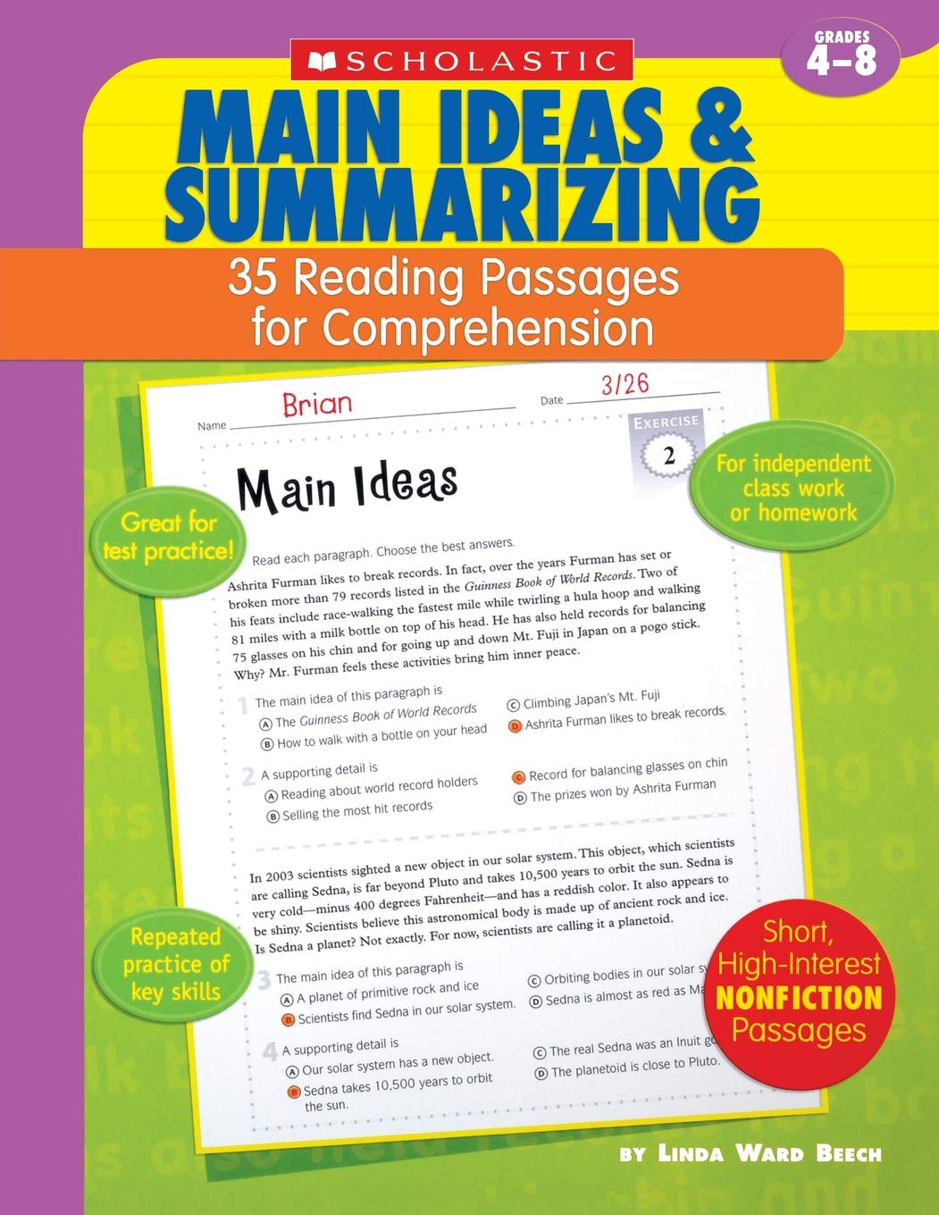 - Amazon.com: 35 Reading Passages For Comprehension: Main Ideas