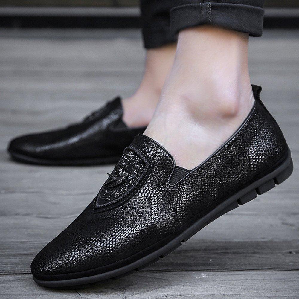 554e54e0f0c9 ... AFCITY Schwarze Lederne Schuhe der und Erwachsenen Männer Freizeit  Breathable und der Flache Stöckelschuhe Klassischer Stiefelschuh