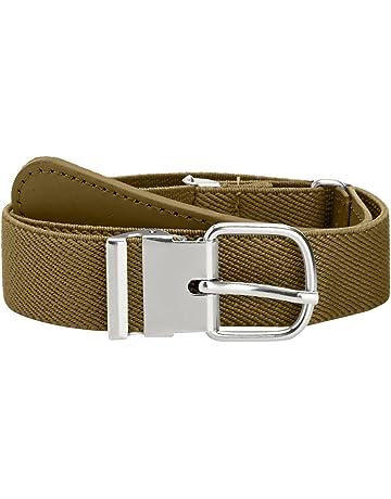 518a8d702 Playshoes Leder Elastik-Gürtel Cinturón para Hombre
