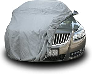 "Copap Car Covers Full Cover 3 Layers Non-Woven Fabric Universal Fit Full Car Cover for Sedan Waterproof All Weather Protection (XL Size Fit up to 185"")"