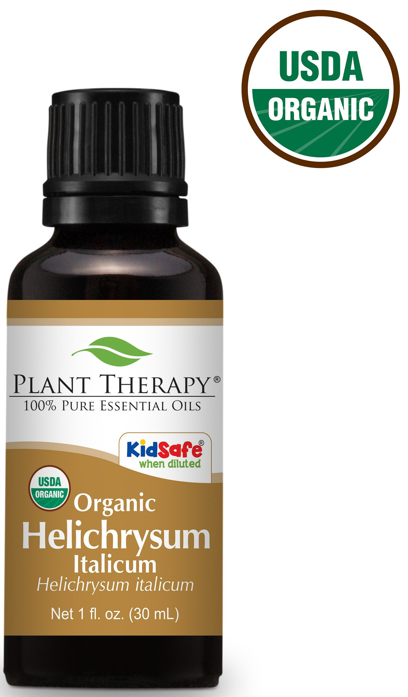 Plant Therapy Helichrysum Italicum Organic Essential Oil 30 mL (1 oz) 100% Pure, Undiluted, Therapeutic Grade