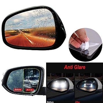 Antibeschlagfolie Antibeschlag Wasserdicht Regendicht R/ückspiegel Fenster Klar Schutzfolie-2St. Yocktec Auto R/ückspiegel Schutzfolie