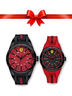 eeb6179942d Buy Ferrari Analogue Black Dial Men s Watch Online at Low Prices in ...