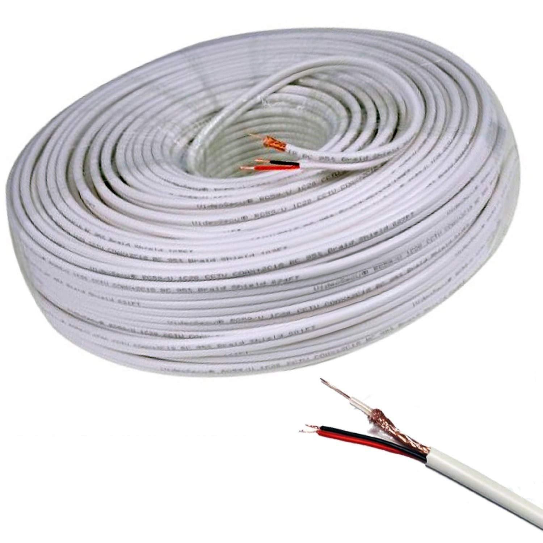 Tiempo Cable 100 Metros Coaxial RG59 madeja Cables vídeo ...