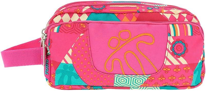 TOTTO Agapec AC52ECO009-1720Z-1IE Estuche Escolar Tres Compartimentos, 23 cm, Multicolor (1IE): Amazon.es: Oficina y papelería
