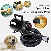 Ridgeyard 2800w Dog Cat Hair Blow Dryer Pet Grooming Portable High Speeds Adjustable Heat Home Hairdryer w/ Heater Christmas Gift