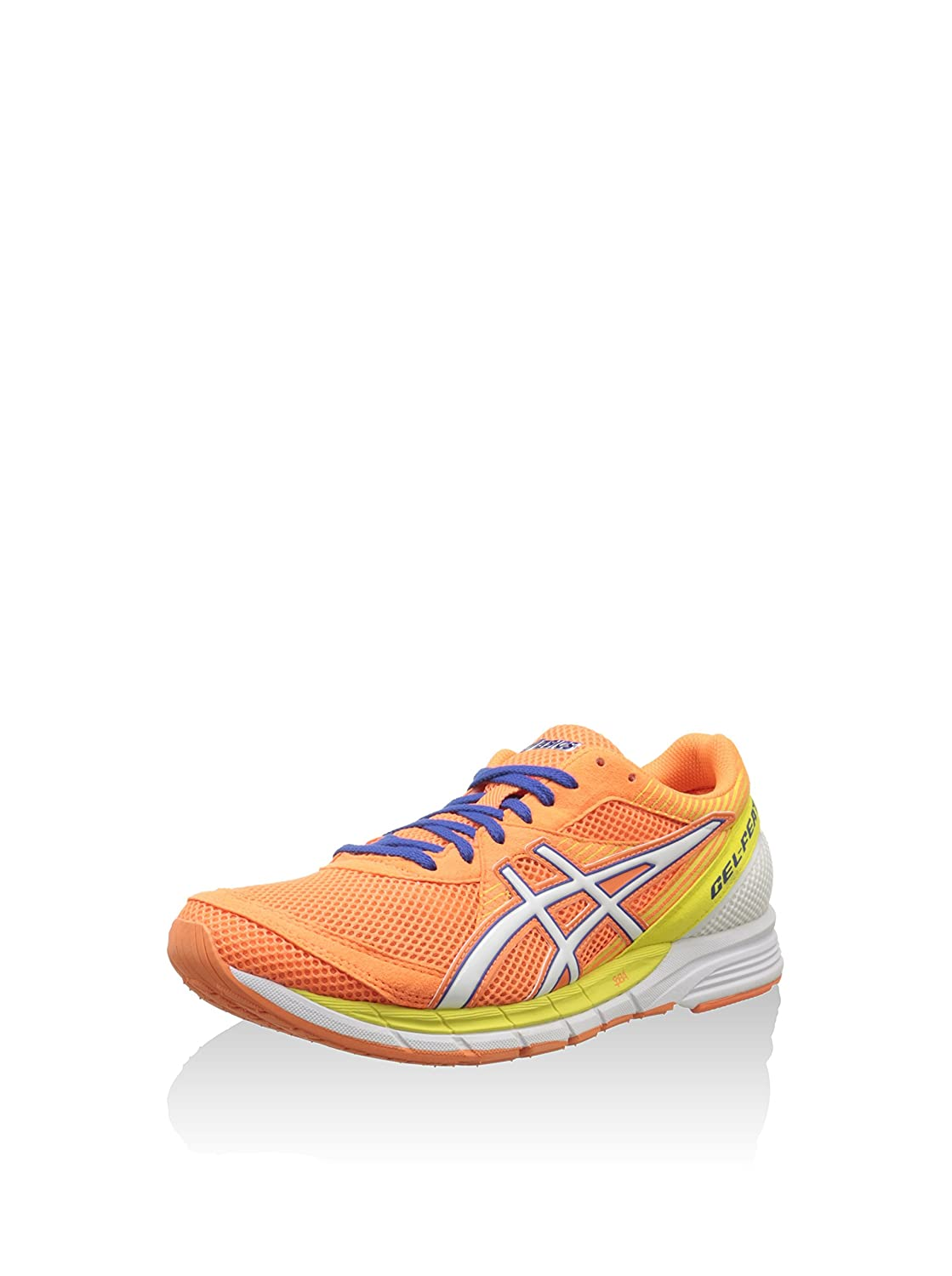 ASICS Herren Gel-Feather Glide 2 Hallenschuhe, Orange/Weiß/Blau, 41.5 EU
