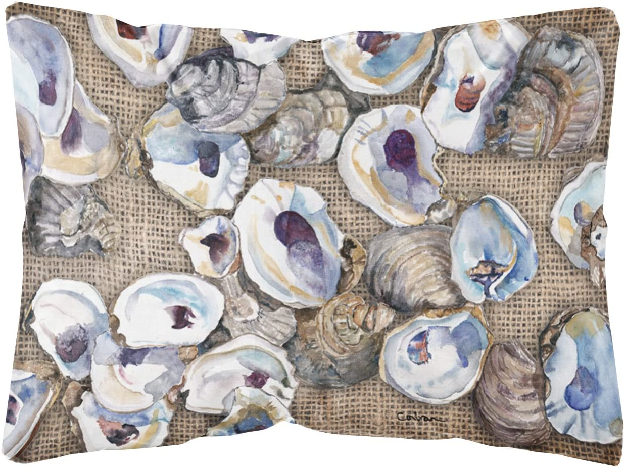 Caroline s Treasures 8734PW1216 Oyster Canvas Fabric Decorative Pillow, 12H x16W, Multicolor