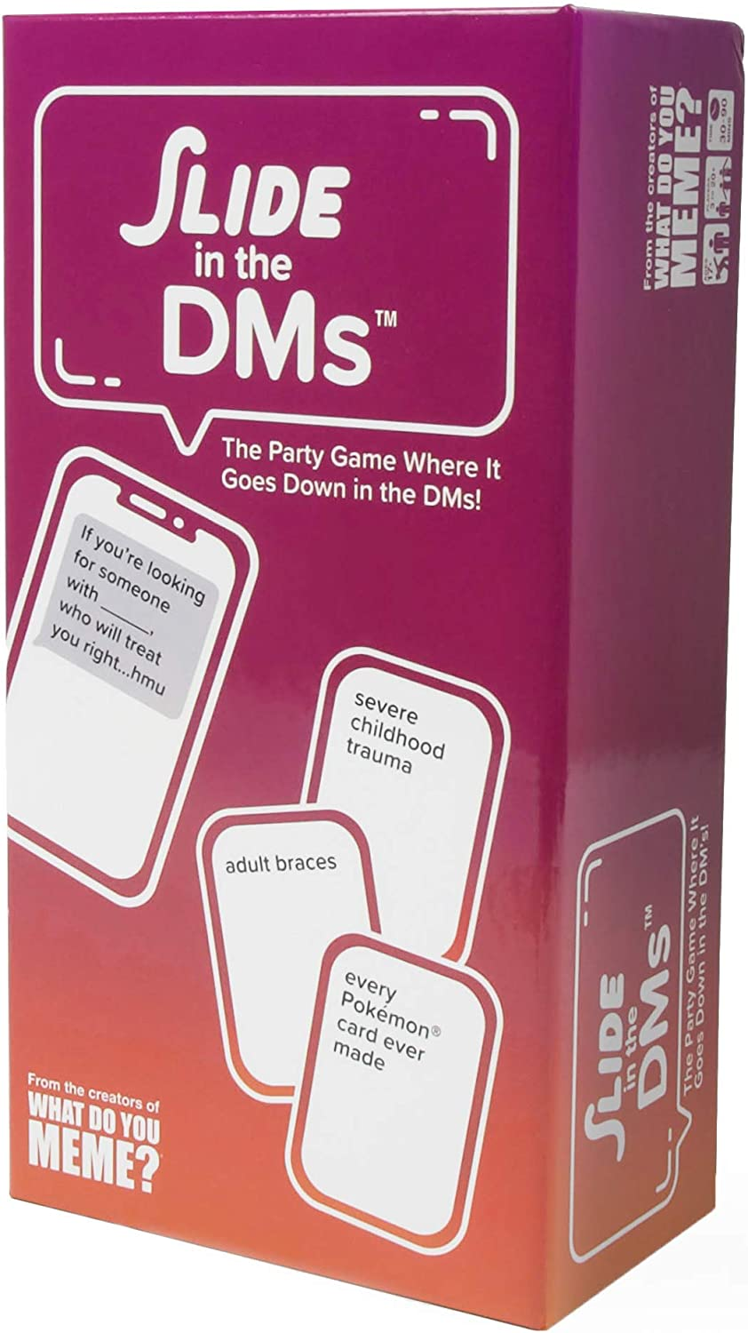 WHAT DO YOU MEME? Slide in The DMs Adult Party Game