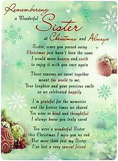 Christmas Memorial Card Graveside Poem Wonderful Sister Grave