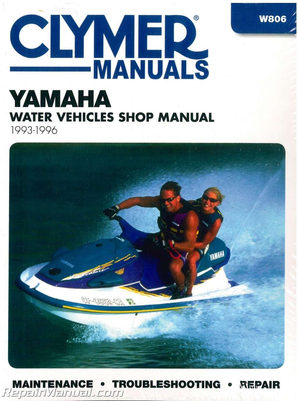 W806 1993-1996 Yamaha Waverunner Clymer Personal Watercraft Service Manual:  Manufacturer: Amazon.com: Books