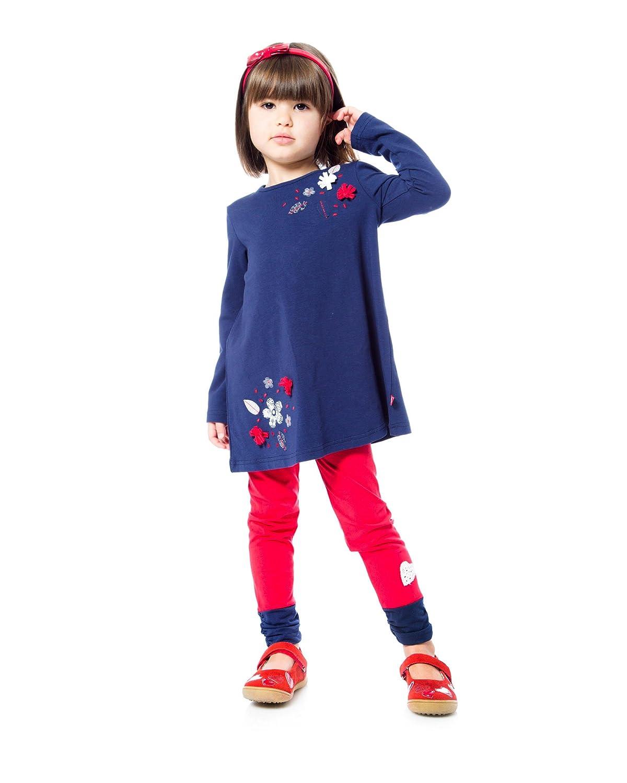 Deux par Deux Girls Red Solid Leggings Class Act Sizes 3-6