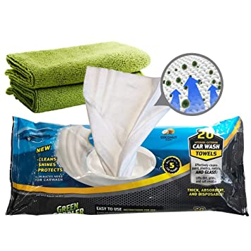 Green Gobbler GGCSAT20 Agua Car Wash Toallas + 2 paños de Microfibra Green: Amazon.es: Hogar