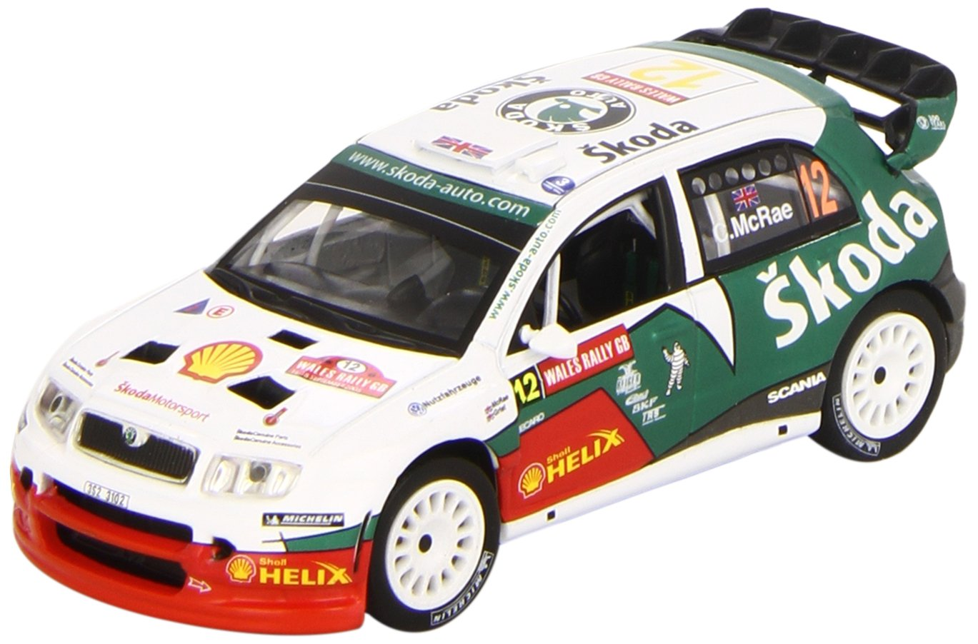 Amazon.com: Corgi VA99902 Skoda Fabia Turbo, World Rally Championship, Wales Rally of Great Britain, 2005 by ToyMarket: Toys & Games