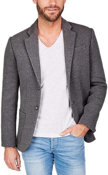 Centered Sakko Herren modern und sportlich als Casual Jacket oder Blazer (Grau)