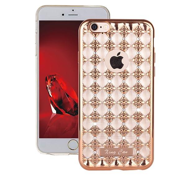 more photos 4d0f5 d74f5 Amazon.com: Euskey iPhone 6 Plus Clear Flexible Rubber Case,iPhone ...