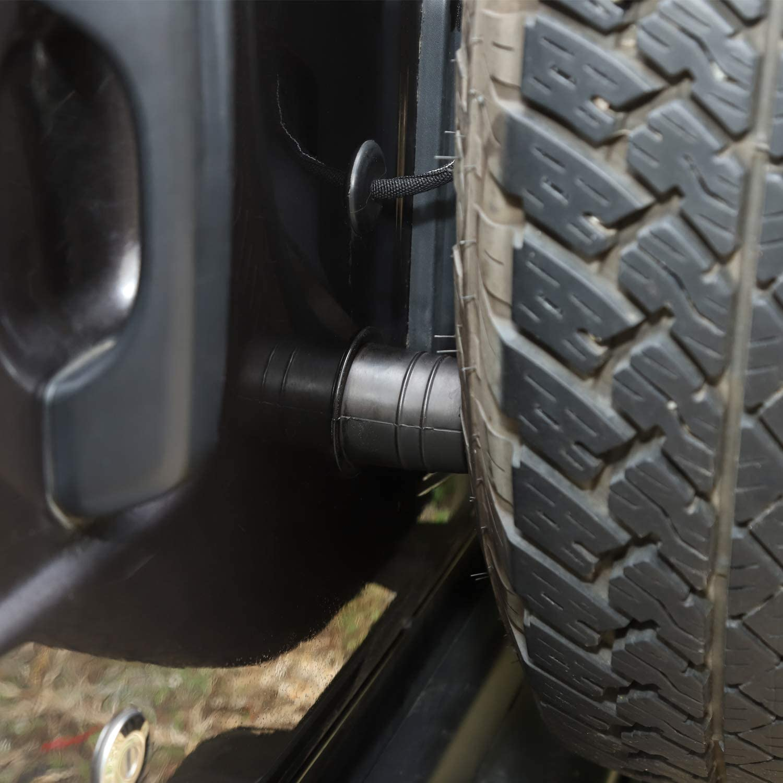 JeCar Spare Tire Carrier Bumper Set Rubber Bump Stop Exterior Accessories for Jeep Wrangler JK JL 2 PCS