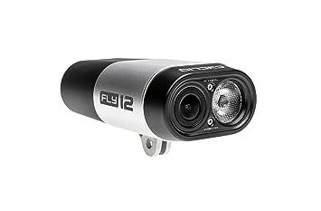 Cycliq Fly12 - Cámara Full HD y luz Delantera para Bicicleta, Unisex, Plateada,