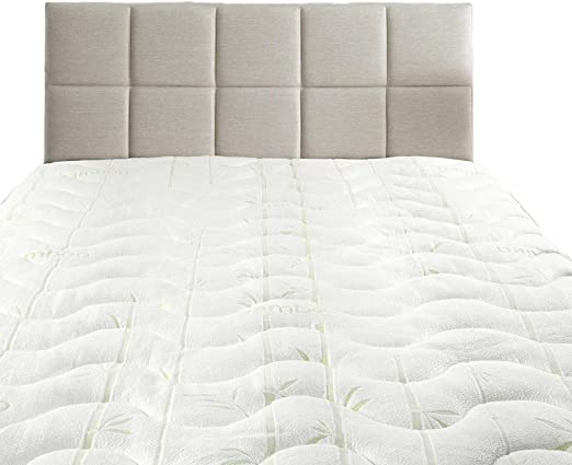 QUEEN SIZE MATTRESS TOPPER Luxury Quilted Fitted Hypoallergenic Bed Pad Cover