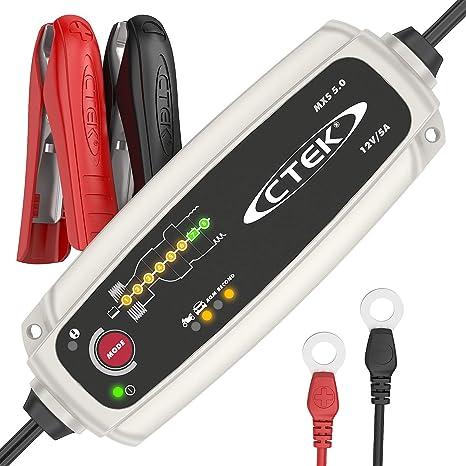 Toolbox Set Caricabatteria con Accessori di Connessione 56-305 12 V-5A CTEK MXS 5.0