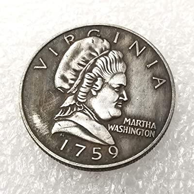 MarshLing 1759 Antique US Liberty Half-Dollar Coin - Great Martha Washingion Commemorative Coins - USA Uncirculated Morgan Dollars-Discover History of Coins Perfect Quality: Toys & Games