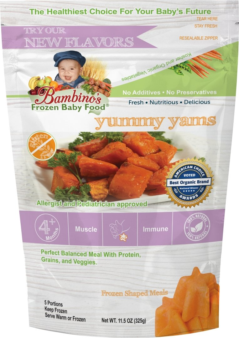 Bambino's Baby Food - Yummy Yams Frozen Organic Baby Toddler Meals