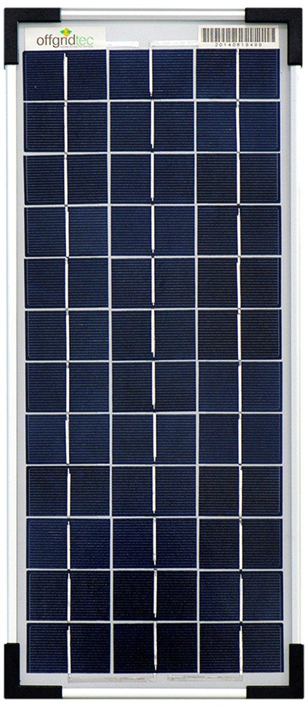 Offgridtec Solar Panel 10 Watt 12 V, 3– 01– 001565 Poly 3-01-001565 Poly
