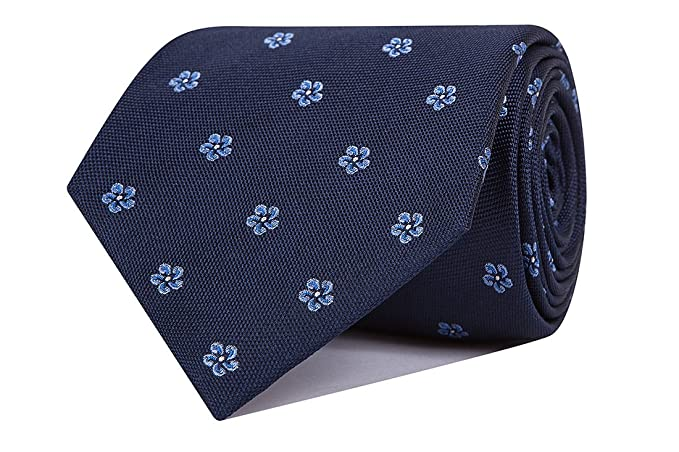 SoloGemelos - Corbata Seda Flores Azul - Azul, Celeste - Hombres ...