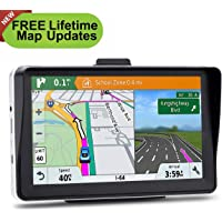 $57 » 7 inches Car GPS, 8GB Navigation System for Cars Lifetime Map Updates Touch Screen Real Voice…