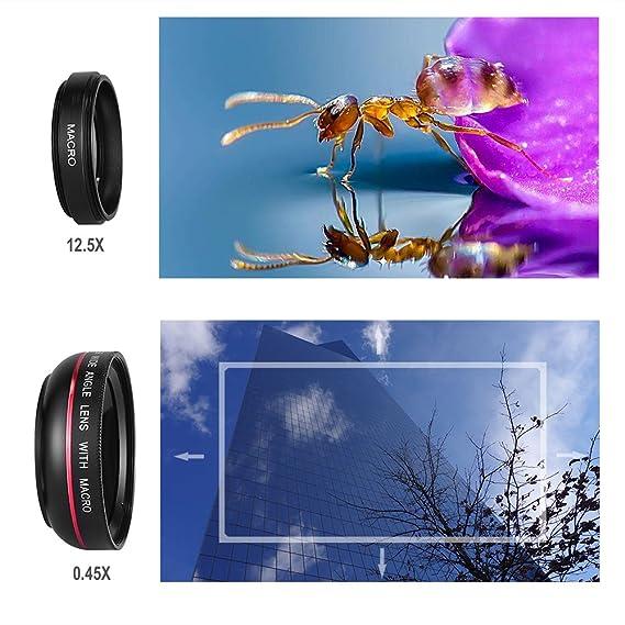 Lente de Cámara universal HD Teléfono Índice Fischer Cámara Kits de lente con macro y gran angular para iPhone 7/6S/Samsung Galaxy S/LG/HTC: Amazon.es: ...