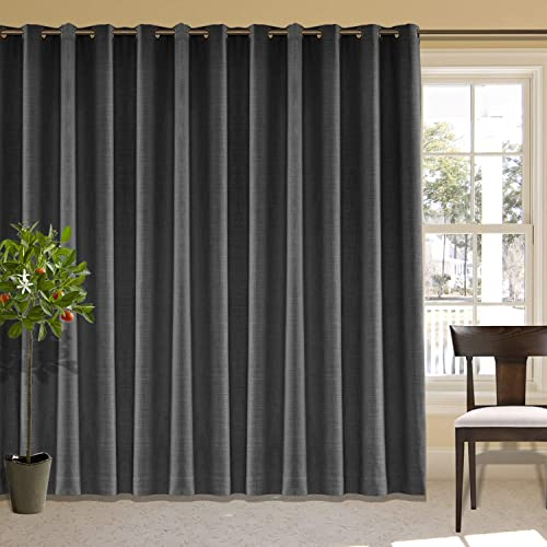 "cololeaf Extra Wide Curtain Panels 150"" W x 96"" L Linen Drapes"