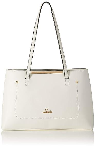 76fc55cd589 Lavie VIGABATRIN Women's Satchel (White): Amazon.in: Shoes & Handbags