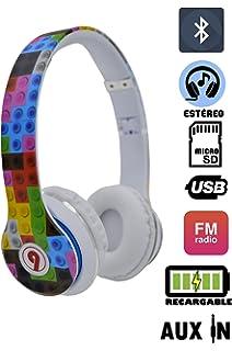 ELECITI Cascos Auriculares Bluetooth con Micrófono (Modelo Lego)
