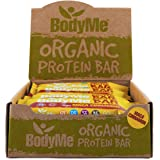 BodyMe Organic Vegan Protein Bar | Raw Maca Cinnamon | Box of 12 x 60g (2.12oz) | with 3 Plant Proteins