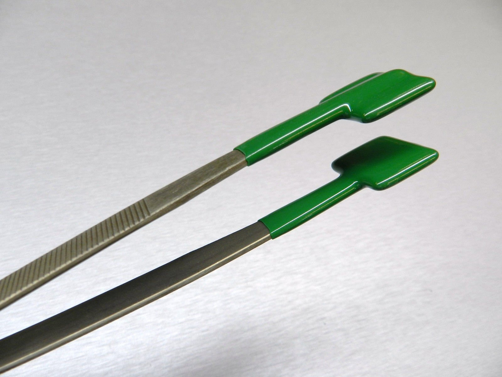 SPECIALTY TWEEZERS PVC COATED FORCEPS FLAT TIPS SAFE RUBBER NON MARRING HOLDING (E 3)