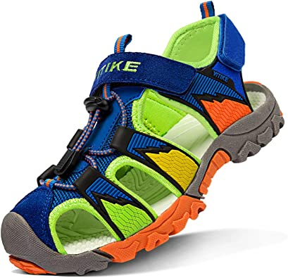 WETIKE Kids Sandals Closed-Toe Outdoor