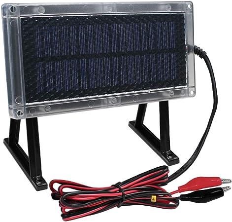 Amazon.com: 6-Volt Panel Solar Cargador para Batería 6 V 12 ...