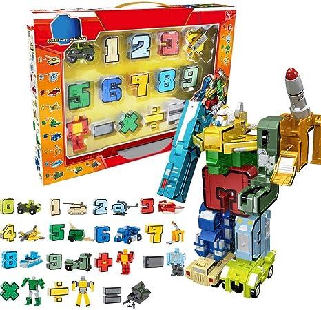 Juguetes Transformers Juegos De Construcción Numero Robot De Deformacion Robot De Bloques De Construcción Constructores De Pernos Bloques Herramientas De Aprendizaje Educativo Para Niños: Amazon.es: Bebé