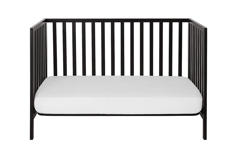 Ebony Black Union 2-in-1 Convertible Crib