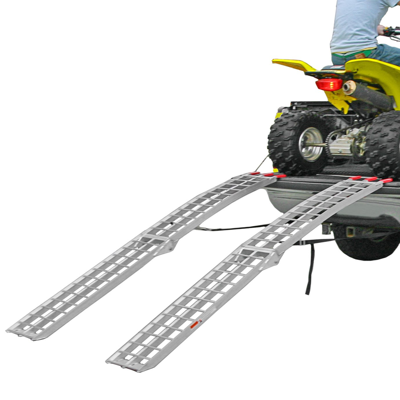 Black Widow AFL-9012-2 Dual Runner ATV Ramp - Finger-Style Lip Rung Surface, 2 Pack