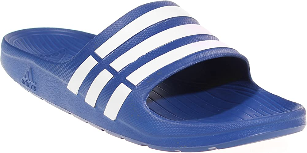 La forma Lo encontré halcón  adidas Duramo Slide Mens Flip Flop Sandal - Royal Blue, UK 12: Amazon.co.uk:  Shoes & Bags