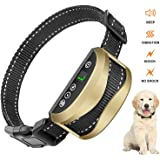 SWS-TECH Dog Bark Collar, USB Rechargeable Waterproof No Barking Collar, Upgrade 7 Sensitivity, Humane Anti Bark Training Collar with Beep, Vibration and Harmless Shock for Small Mediu