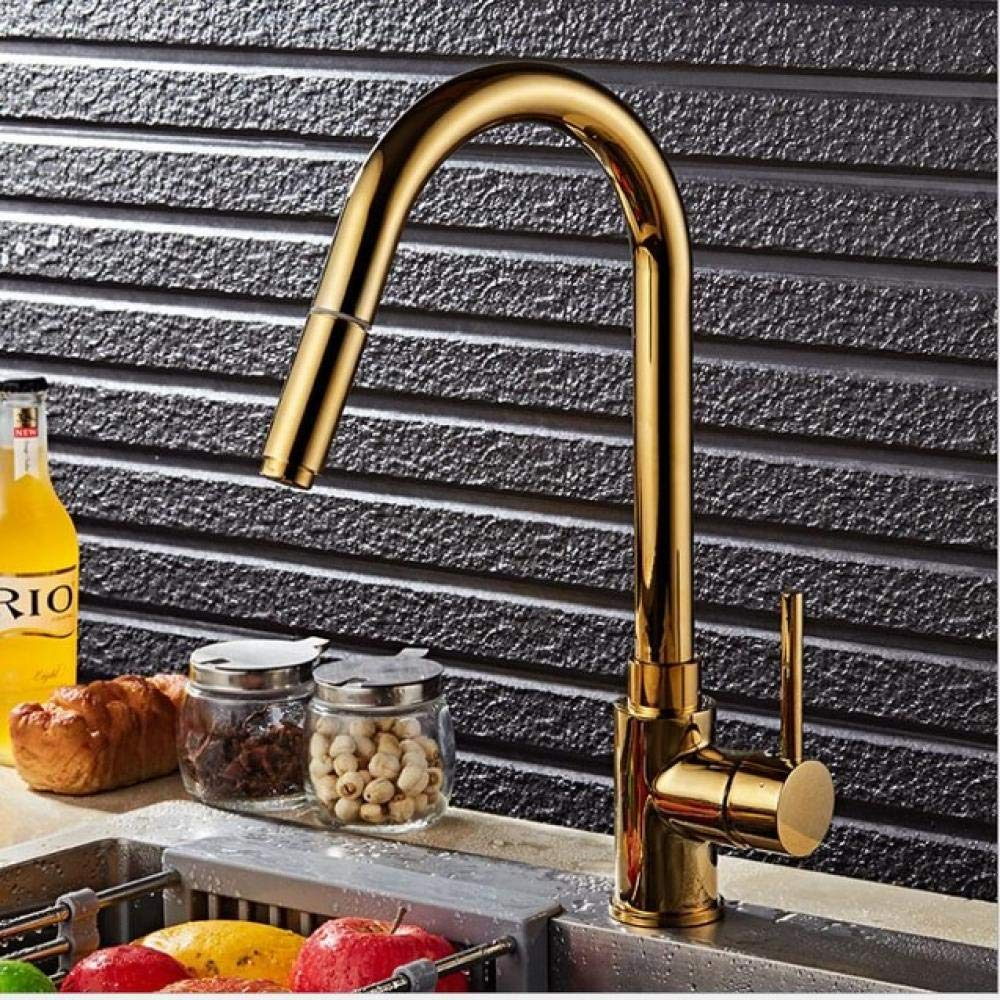 gold PUSMASH Pull Out Kitchen Faucet Nickel gold Chrome black Brushed Crane Sink Mixer Tap 360 degree redation kitchen mixer taps Kitchen Tap