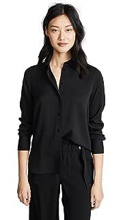 81a228e4da427c Amazon.com  Vince Women s Celestial Polka Dot Slim Fitted Blouse ...