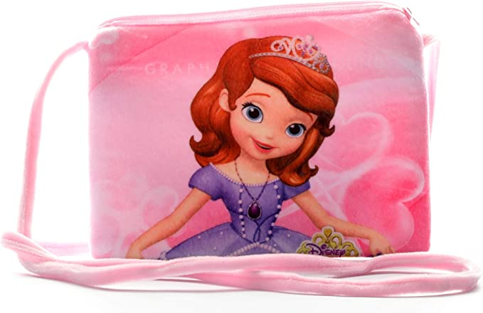 HC Toys LLP Rapunzel Girls Princesses Soft Canvas Sling Bag (Pink)