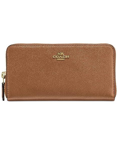Coach - Cartera para mujer mujer marrón Light Gold/Saddle: Amazon.es: Zapatos y complementos