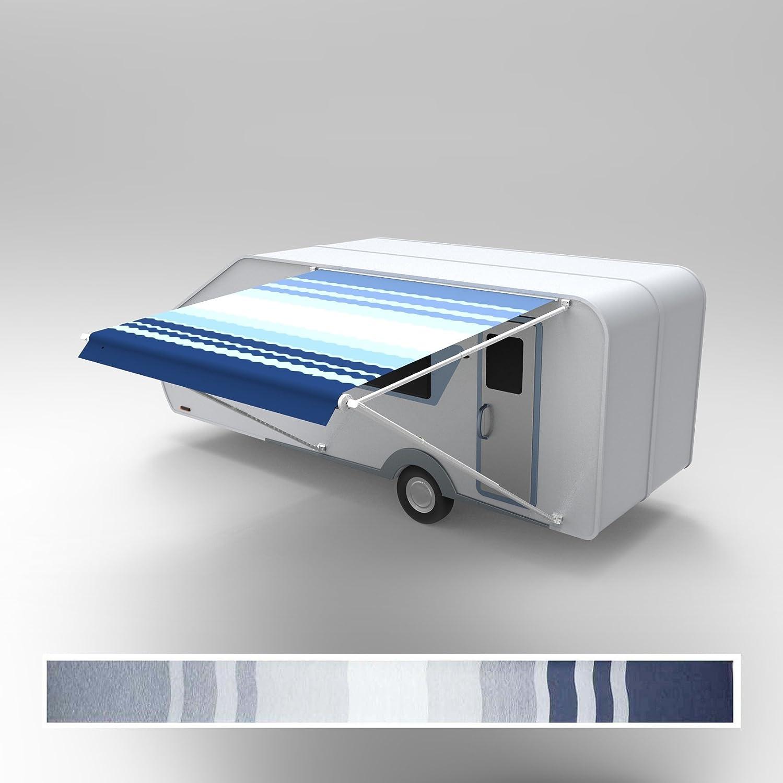 ALEKO RVFAB10X8BLUE24 RV Awning Fabric Replacement 10 x 8 Feet Blue Fade