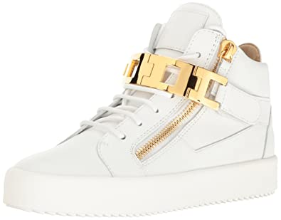 607ce55b622a1 Giuseppe Zanotti Women's Rs7068 Fashion Sneaker, White, 8 M US: Buy ...